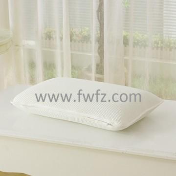 la altura ajustable, 100% poliéster , la almohada blanca de tela de malla para los adultos