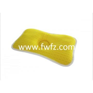 altura ajustable de la almohada de tela de malla amarilla con un hueco para bebé