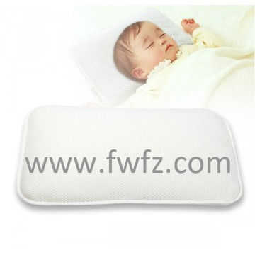 altura ajustable de la almohada de tela de malla blanca para bebé